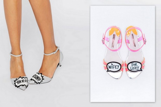 10 dream designer wedding shoe looks for less for Sophia webster wedding shoes