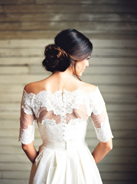 jcrew wedding dress lace bridal bolero ashleybosnickphotography