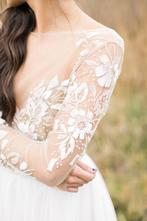 Swoon Worthy Wedding Dress Details Hayley Paige Detailed