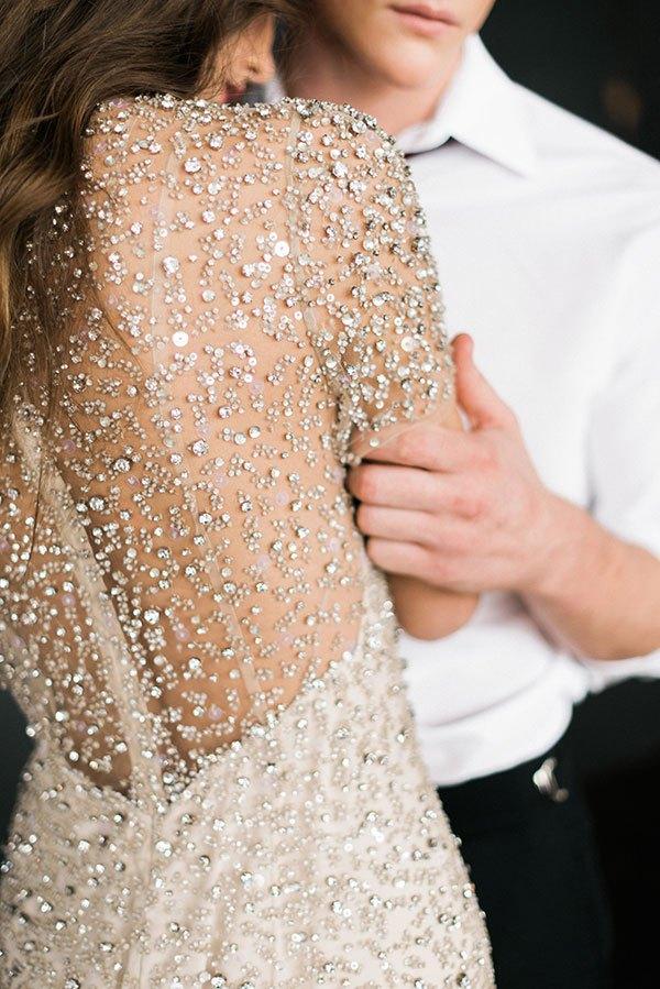 Vestido-de-boda-digno de desmayo-detalles-Jenny-Packham-Jocasta-adornado-rústico-blanco