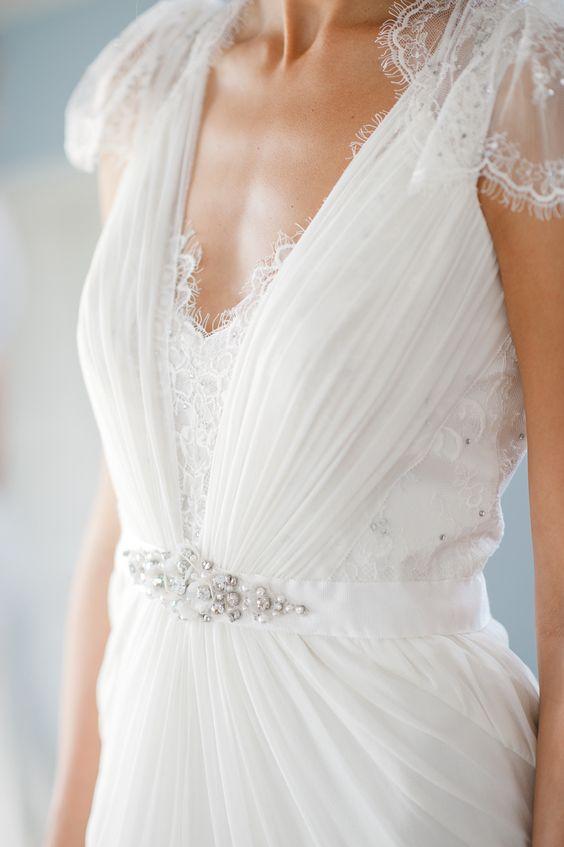Vestido-de-boda-digno de desmayarse-Detalles-Jenny-Packham-Corpiño escarchado