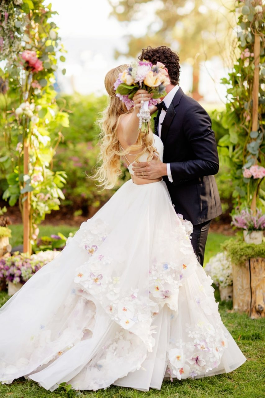 18 ultra romantic ball gown wedding dresses weddingsonline for Wedding dress made of flowers