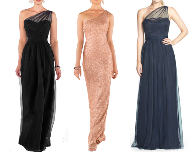 elegant-one-shoulder-bridesmaid-dresses