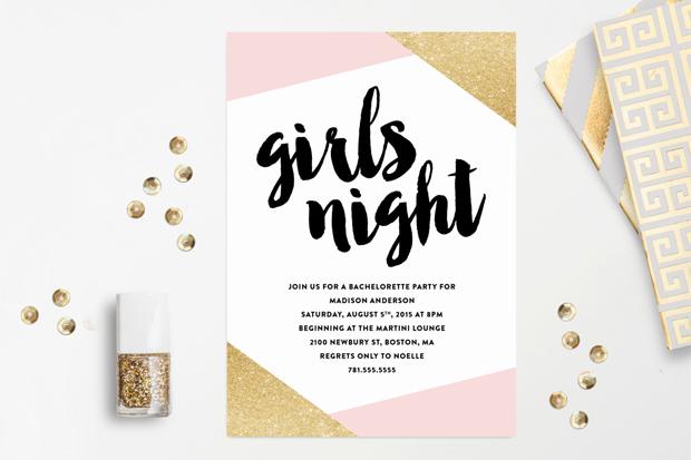 S Night Hen Party Invite Fine And Dandy