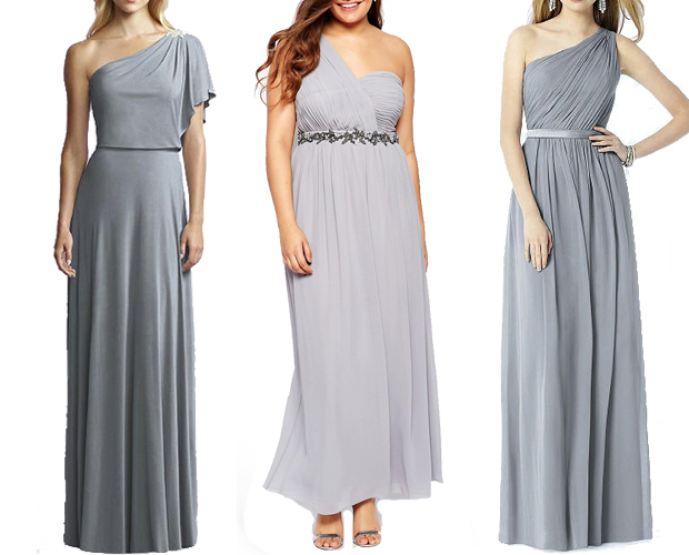 grey-one-shoulder-bridesmaid-dresses