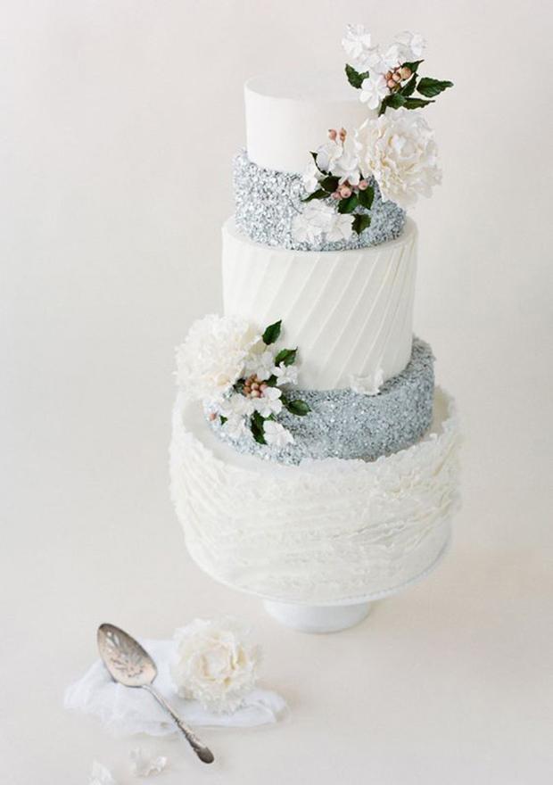 metallic-glitter-wedding-cake