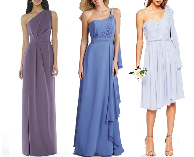 one-shoulder-dresses-bridesmaids-blue