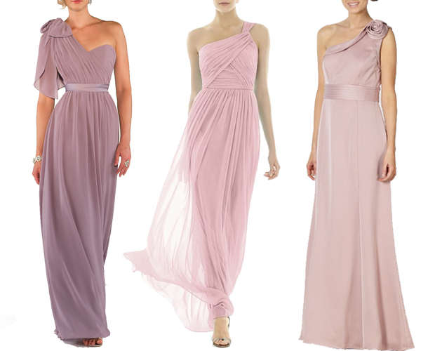 pink-one-shoulder-bridesmaid-dresses