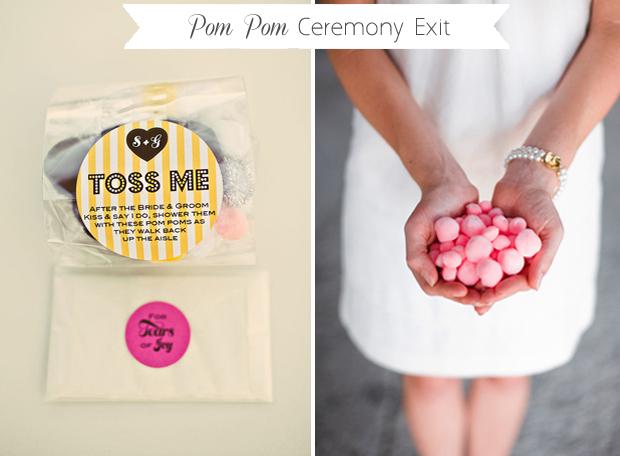 pom-pom-ceremony-exit-wedding