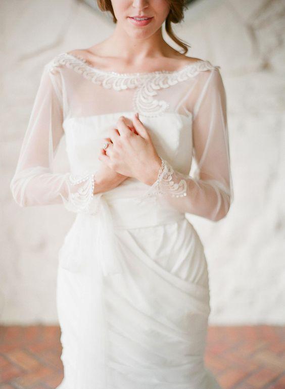 20 Beautiful Bridal Boleros Tops Jackets Capelets You