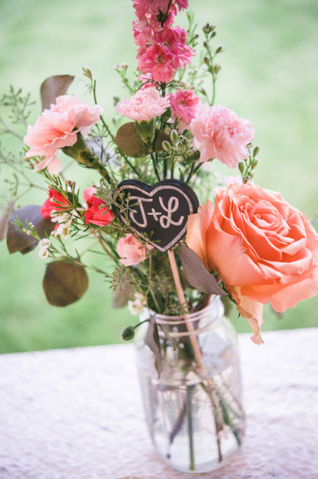 wedding-centrepeice-with-chalkboard-initials