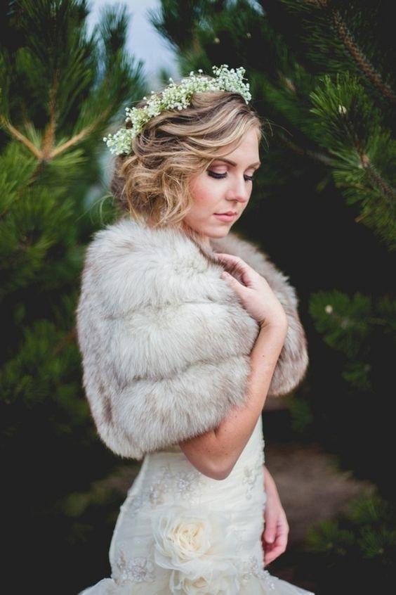 Winter Wedding Cover Ups Fur Bolero Blackbirdphotography