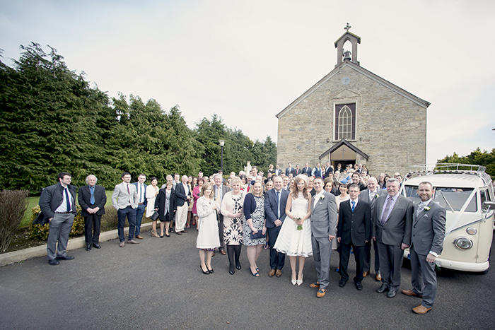 12-Full-Wedding-Party-Guests-Photo-outside-Church-Ireland