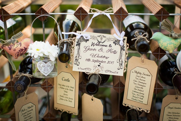 15-Wedding-Table-Seating-Plan-Display-Wine-Bottle-Kraft-Paper-Tags-weddingsonline