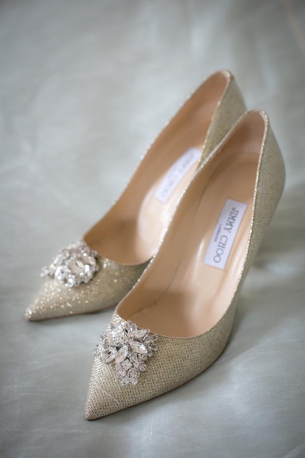 Gold-Jimmy-Choo-Wedding-Shoes-Court-Hu-OReilly-weddingsonline
