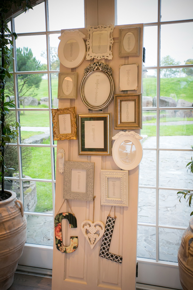 Wedding-Table-Plan-Ideas-Vintage-Photo-Frames-weddingsonline