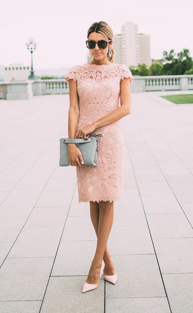 3 fabulously chic outfits for the best dressed wedding for Wedding guest lace dresses