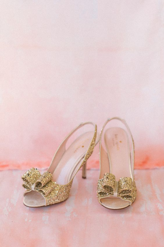 gold-sparkly-kate-spade-wedding-shoes