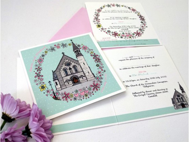 illustrated-church-wedding-invitation-rosy-days