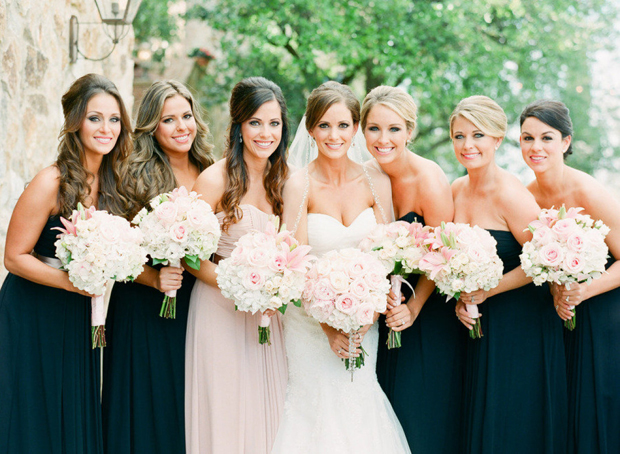 Maid Of Honour Stands Out In Blush Pink