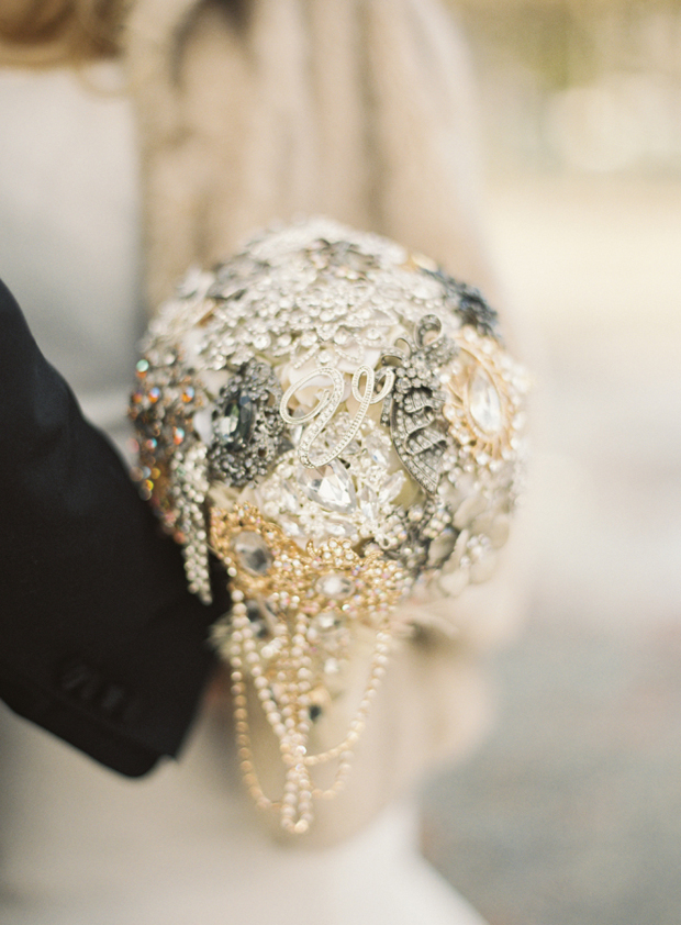 silver-sparkly-bridal-brooch-bouquet