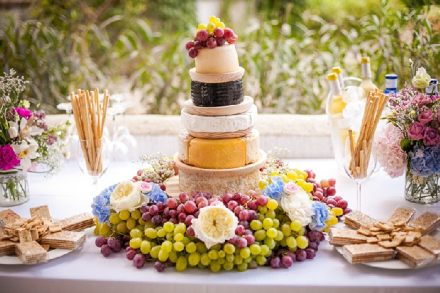 Cheese-Stack-Wedding-Cake-Grapes-Mediterranean-weddingsonline