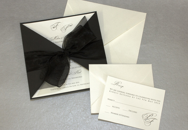 black-oversized-bow-classic-wedding-invitation-by-exclusively-yours