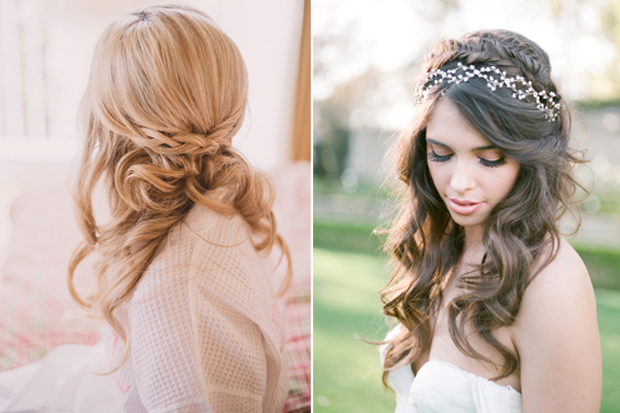 16 stunning half up half down wedding hairstyles weddingsonline deciding on the hairstyle youll rock on the big day is a big deal naturally you want to feel amazing but you also want to feel like the best version of junglespirit Choice Image