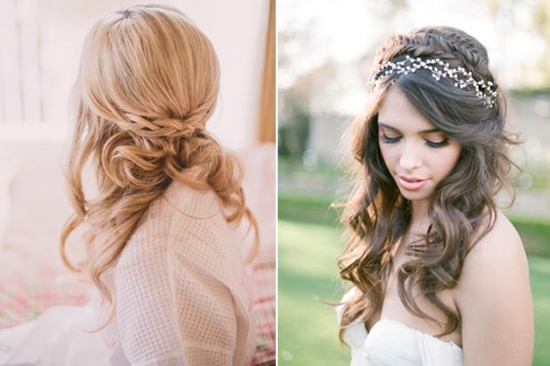 Half Up Half Down Wedding Hairstyles: 16 Stunning Half Up Half Down Wedding Hairstyles