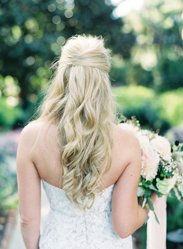 wavy-half-up-half-down-wedding-hairstyle