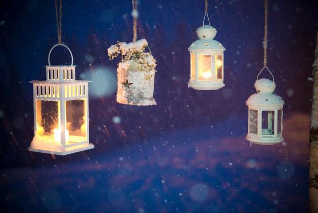 winter-wedding-lanterns