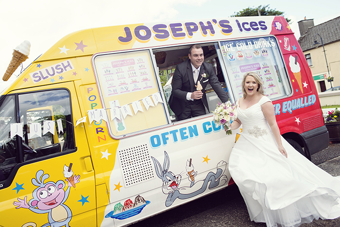 20-Real-Wedding-Ice-Cream-Van-Outside-Church-Ireland-Mayo-weddingsonline (1)