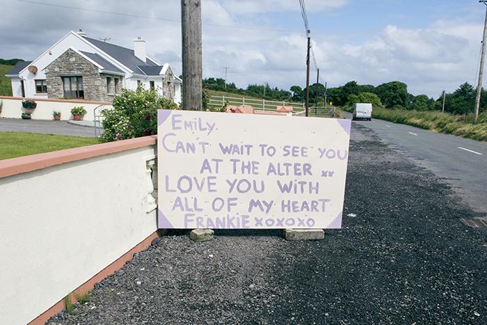 8 Irish Country Wedding Groom Surprise Gift Sign