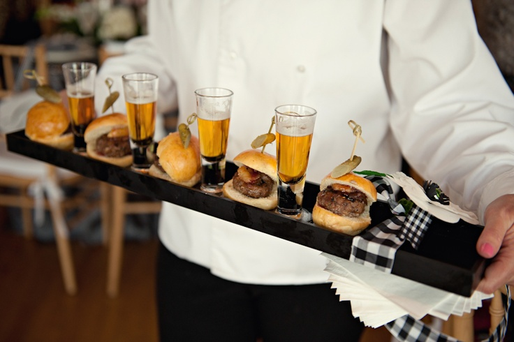 burger-beer-wedding-drinks-reception-ideas-sliders-food