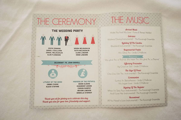 Ceremony Booklet Wedding Party Details