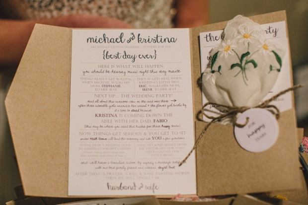 Ceremony Booklet With Hy Tears Hankerchief