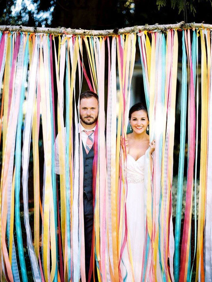 colourful-ribbon-wedding-photo-booth-backdrop
