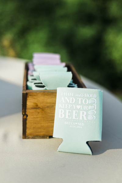 custom-coozies-wedding-drinks-reception-ideas