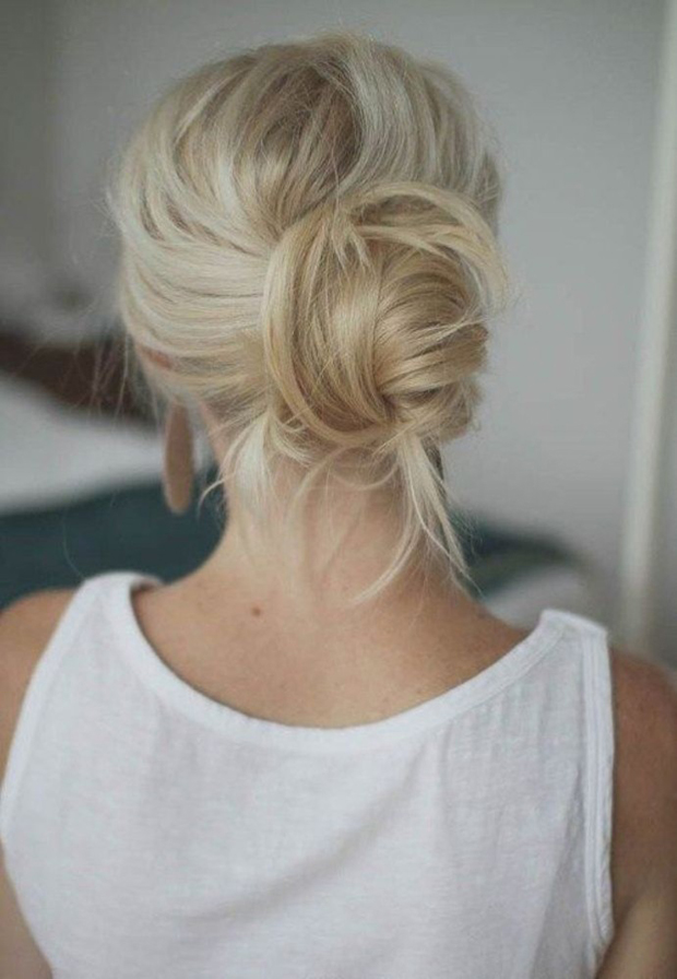 day-after-hair-ideas-messy-chignon