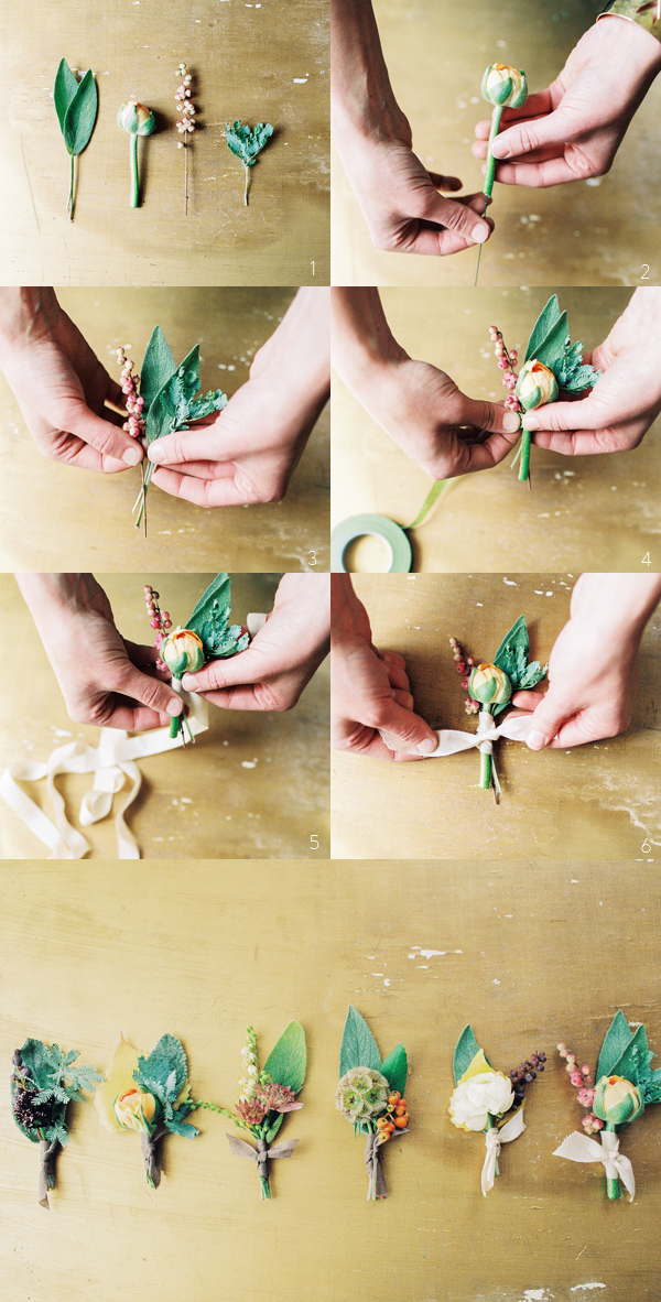 diy-wedding-boutonnieres-buttonholes-step