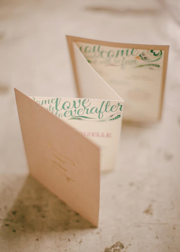 folded-floral-ceremony-booklet-wedding