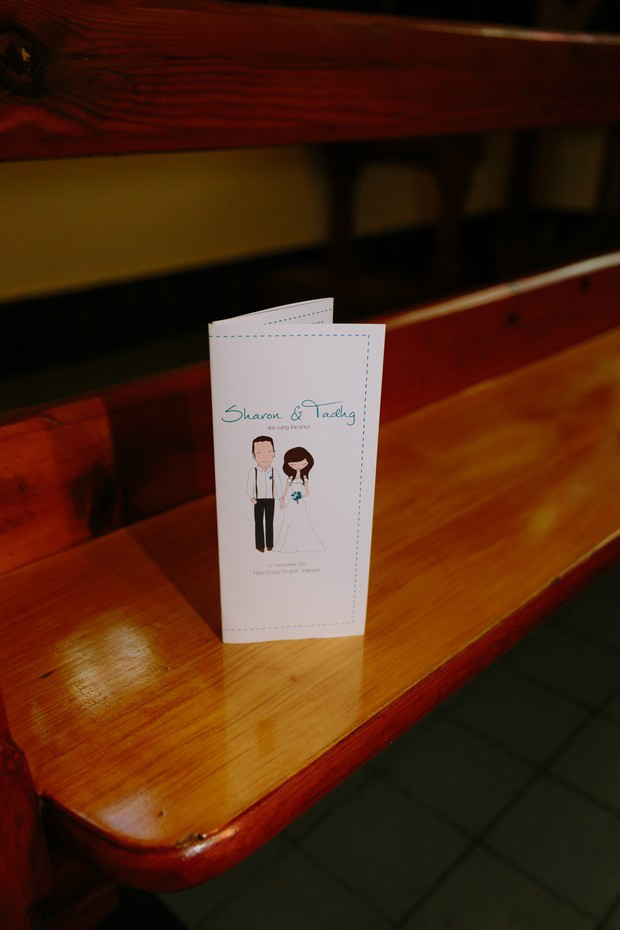 illustrated-couple-wedidng-ceremony-booklet-cover