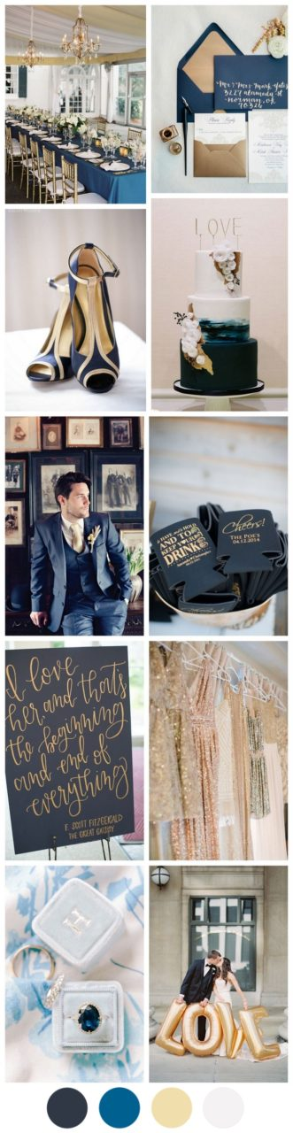 Colour Inspiration Weddingsonline Tendencies Caps Navy Pop Gold Wedding Palette