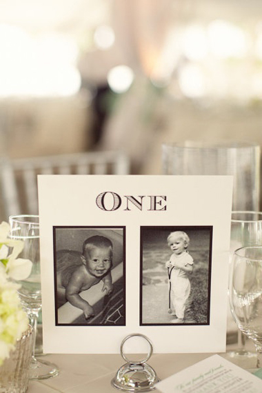 table-number-ideas-wedding-baby-photos