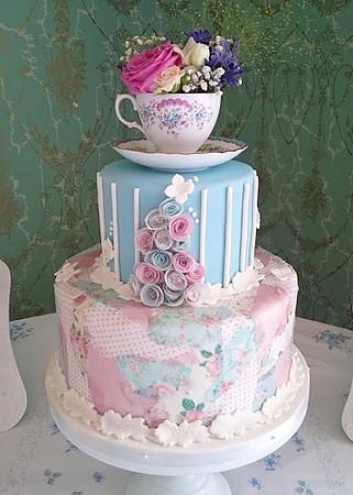 beautiful wedding cake. vintage-tea-party-pastel-wedding-cake-marias-cakes beautiful wedding cake