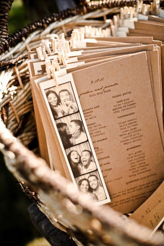 wedding-ceremony-Programme-with-photo-strip
