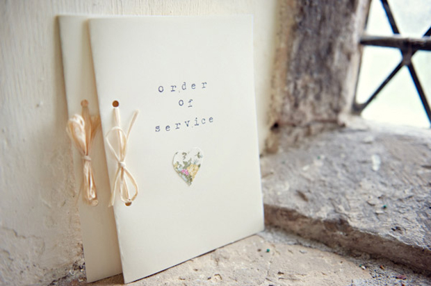 Wedding Ceremony Booklet With Heart