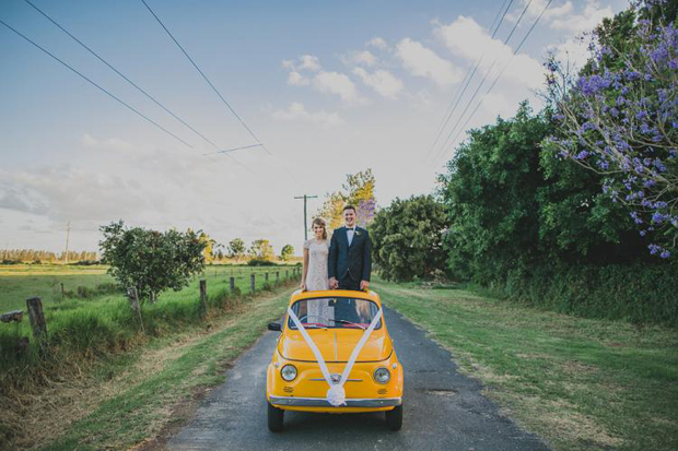 wedding-getaway-car-with-rosette