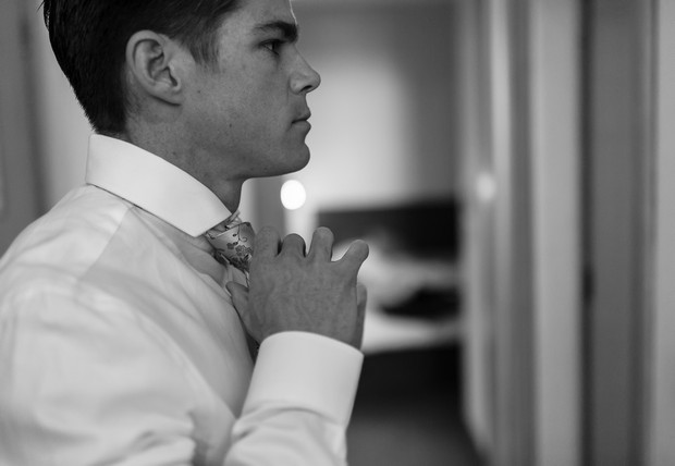 2-Black-White-Groom-Ready-Tie-Wedding-Morning-weddingsonline