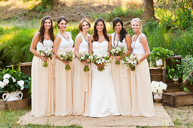 Bridesmaids-in-Separates-long-skirts